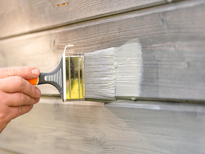 painting wood white