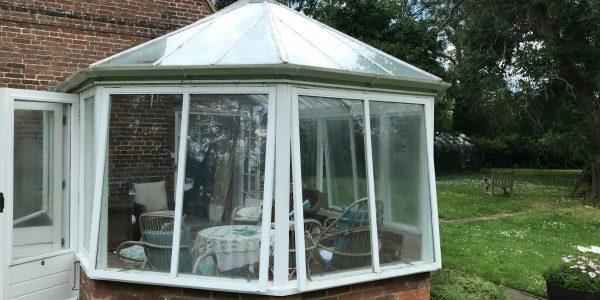 opened windows of conservatory