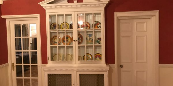 cabinet with plates