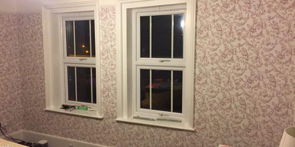 wallpaper around windows