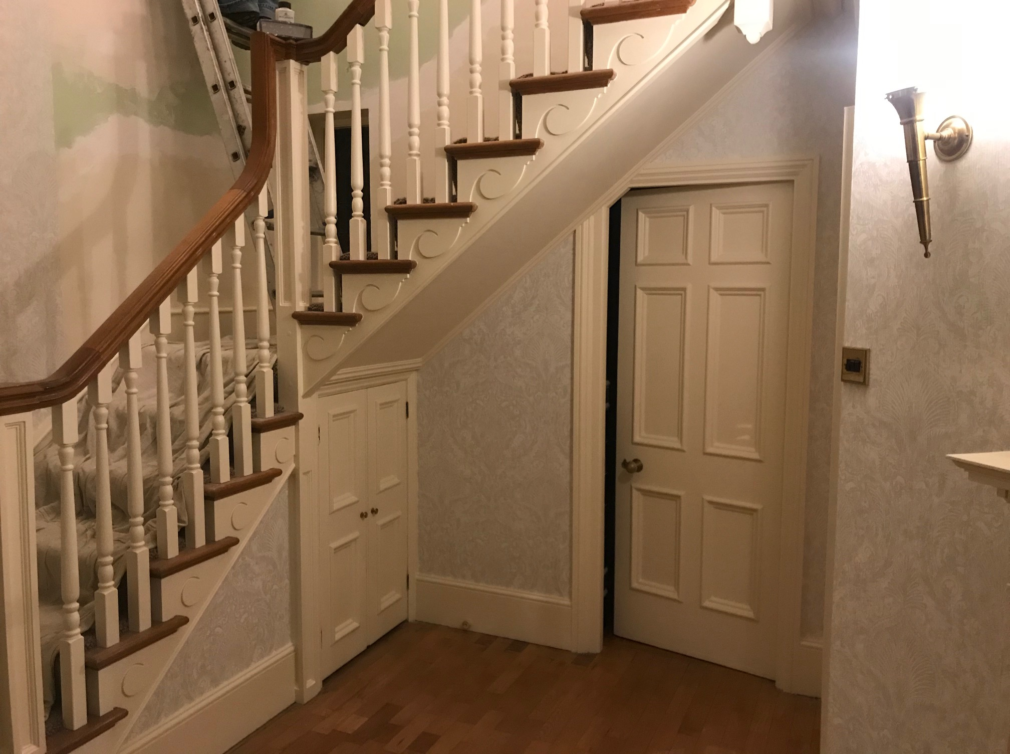 door under the stairs