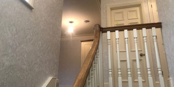 wallpaper at stairs