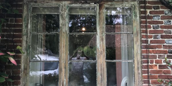 molded frame on French windows