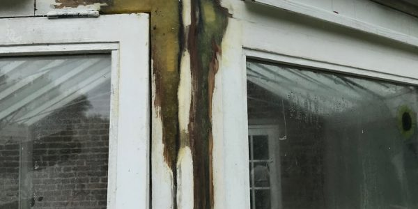 molded wood frame of window